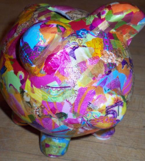 Decoupage pig