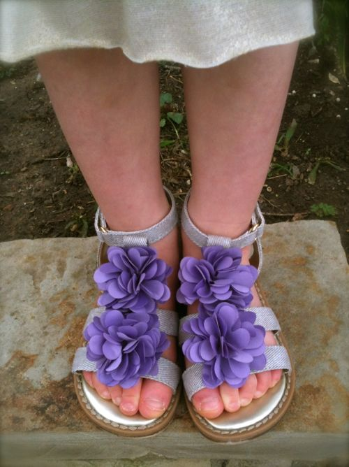 NattyPurple Flower Shoes