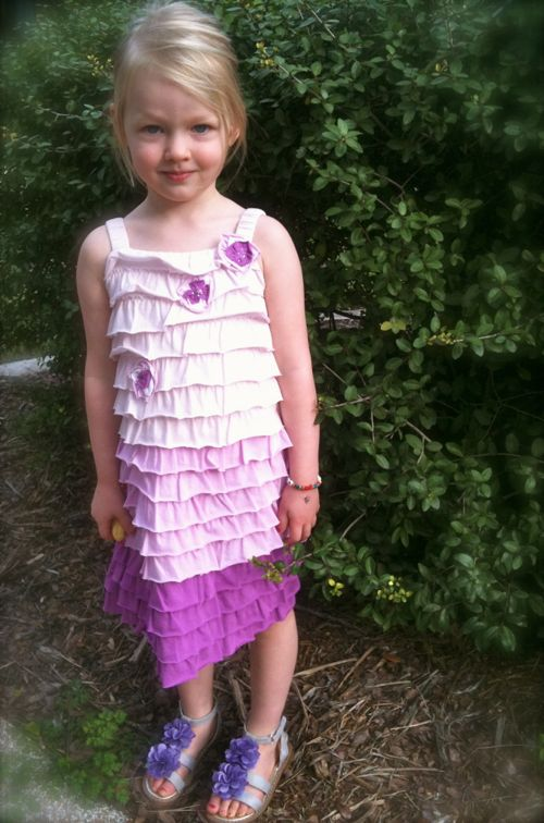 Natty Purple Ruffle Dress